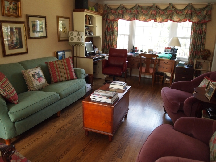 the living room ~ the least cluttered room in the house