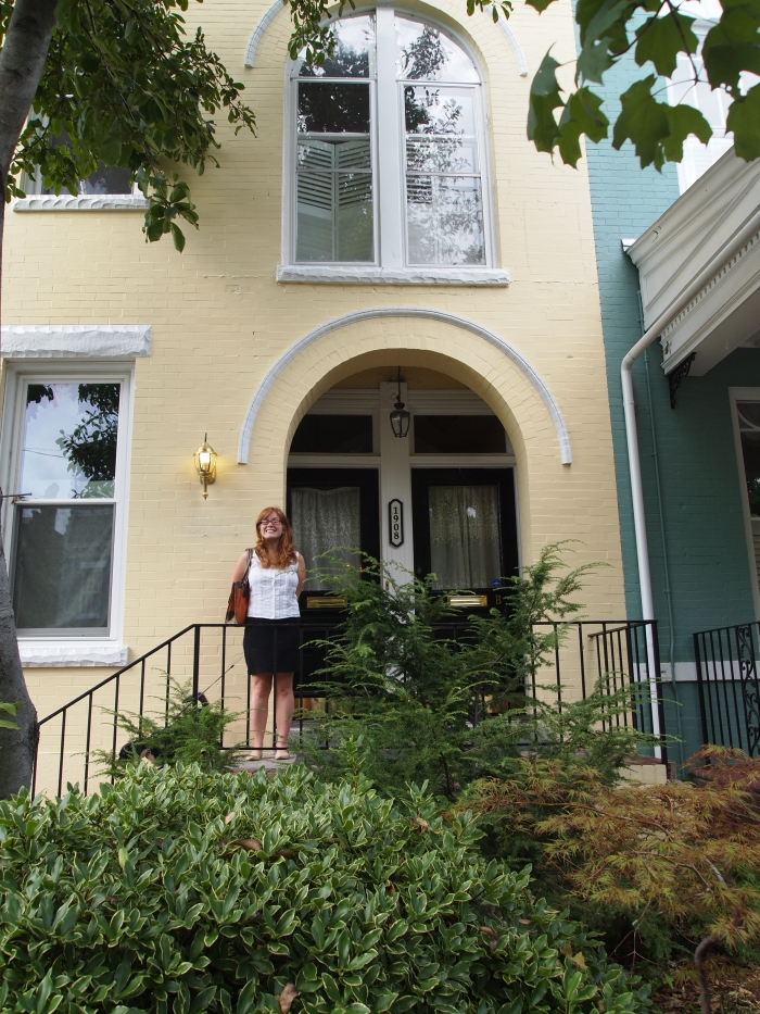 sarah's lovely little row house in richmond's fan