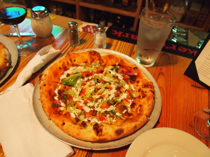 Mexican pizza at Timberbelly Tavern