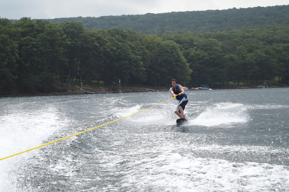 a cloudy & cool day of wakeboarding and tubing (5/6)