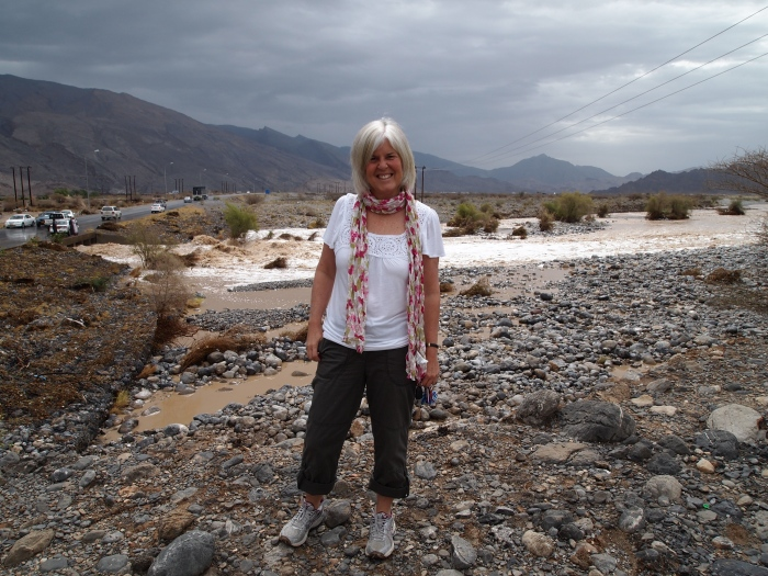 me in Oman during one day of rare wadi flooding