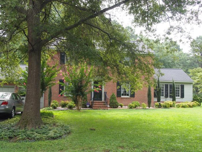 the house where I grew up, in Marlbank Farms, Yorktown, Virginia