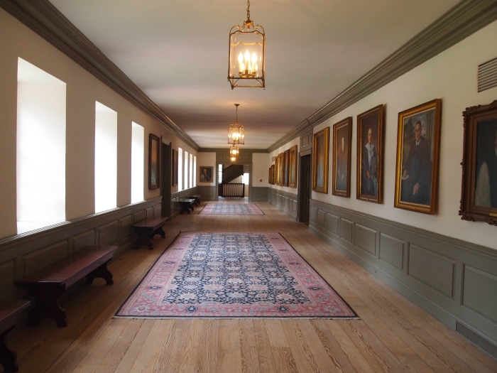 hallway inside the Wren Building