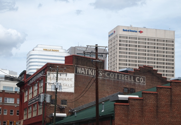 The view of downtown Richmond from Shockoe Bottom