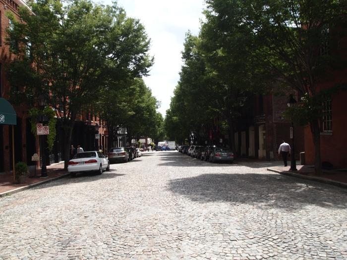East Cary Street in Shockoe Slip