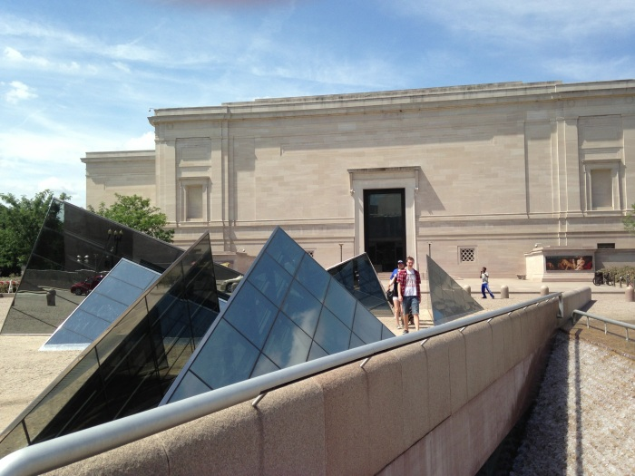 mini glass pyramids between the East and West wings of the National Gallery of Art