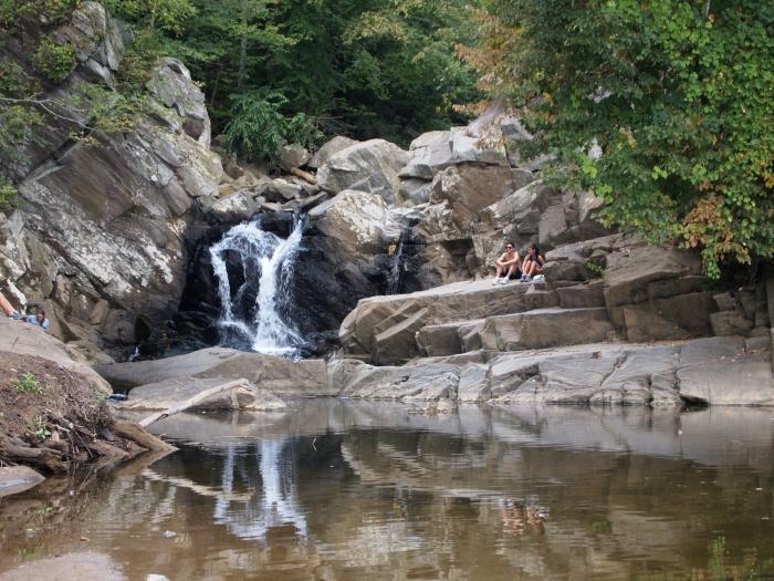 waterfall at Scott's Run
