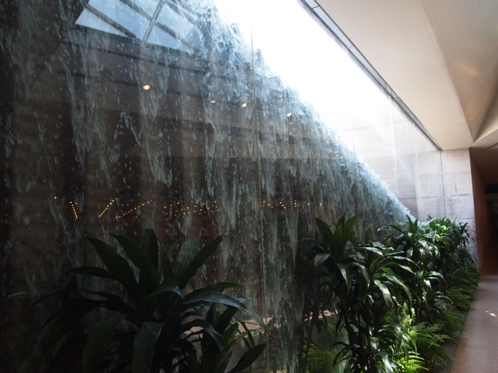 the waterfall in the concourse