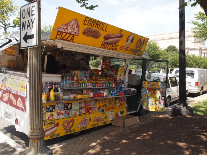 Food kiosks on the Mall