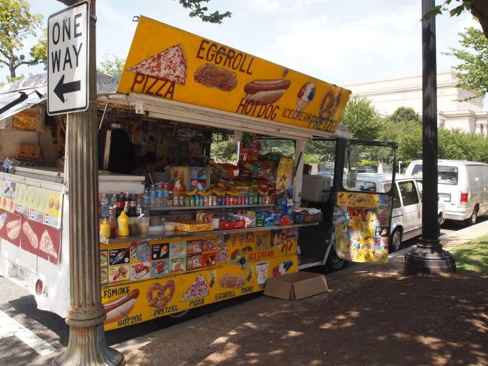 Food kiosks on the Mall
