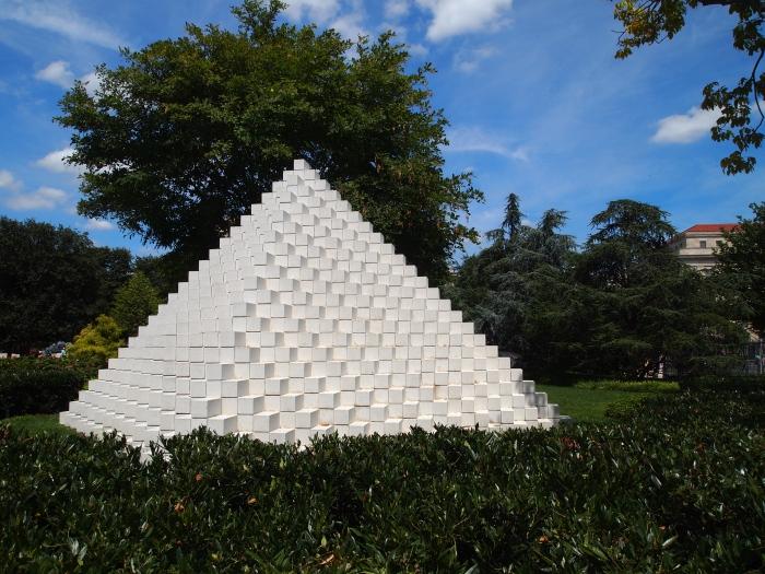 Sol LeWitt American, born 1928 Four-Sided Pyramid, 1999, first installation 1997