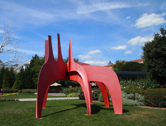 Alexander Calder American, 1898-1976 Cheval Rouge (Red Horse), 1974 painted sheet metal