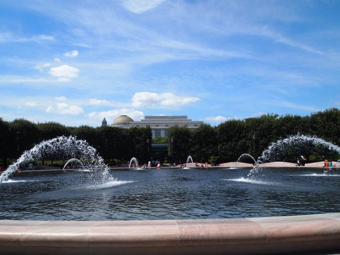 pond & fountains at the Sculpture Garden