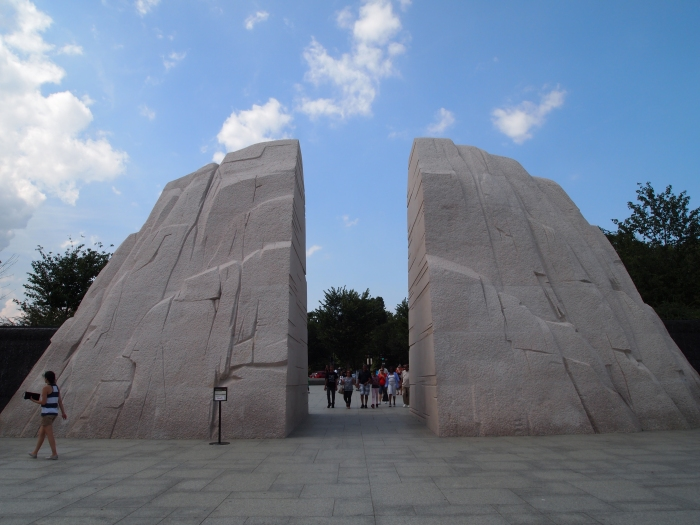 looking back at the entrance to the Martin Luther King, Jr. Memorial