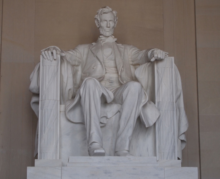 Abraham Lincoln at the Lincoln Memorial