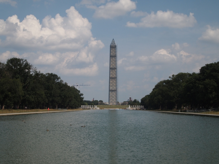 the Reflecting Pool and Washington Monument