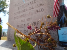 F. Scott and Zelda Fitzgerald's tomb at St. Mary's church cemetery