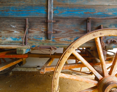 an old cart at Sky Meadows, Virginia