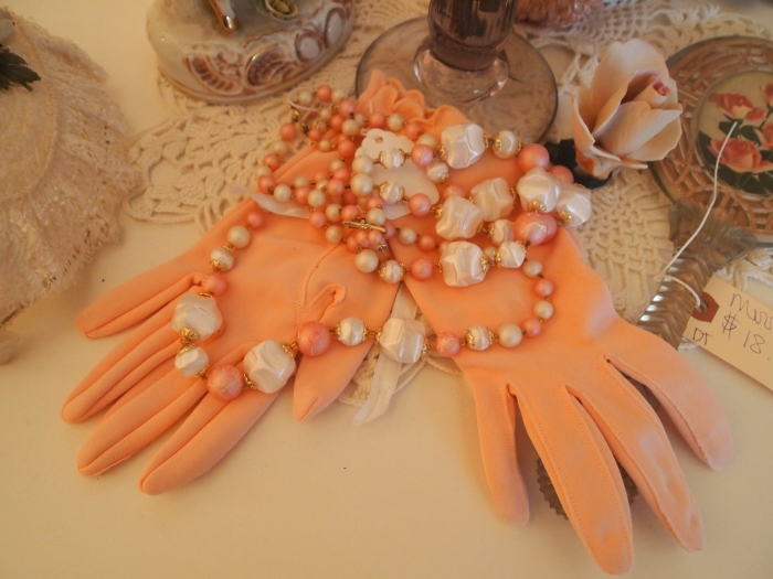 pinkish gloves