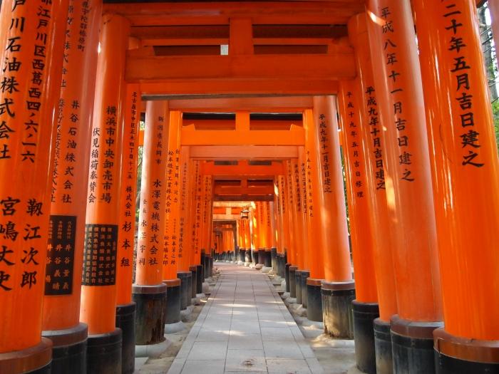 Infinite Torii gates in Kyoto, Japan