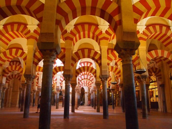 infinite arches in Cordoba's Mezquita
