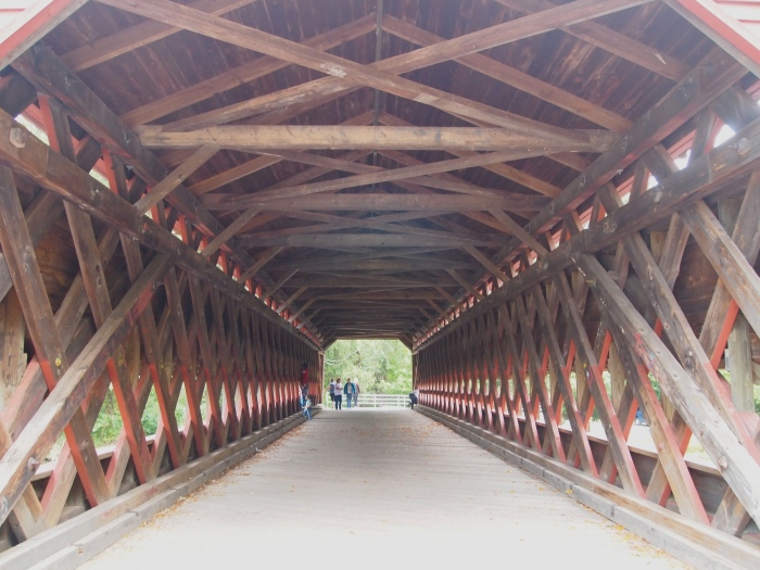Lattice-truss design of Sachs Covered Bridge