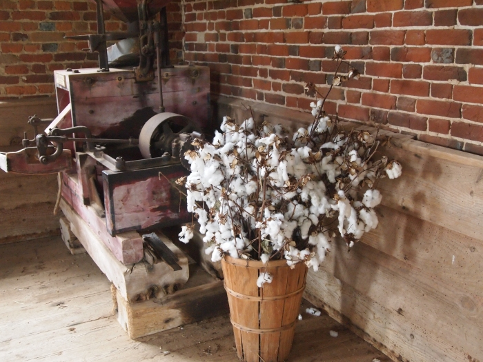cotton and machine