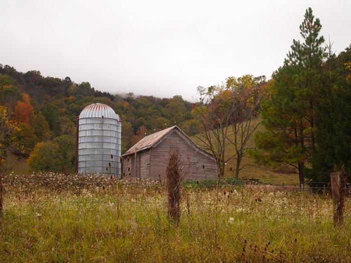 barn with silo near Monterey