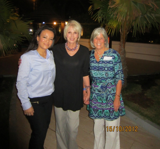Neziha, Joanna Lumley and me in Muscat, Oman