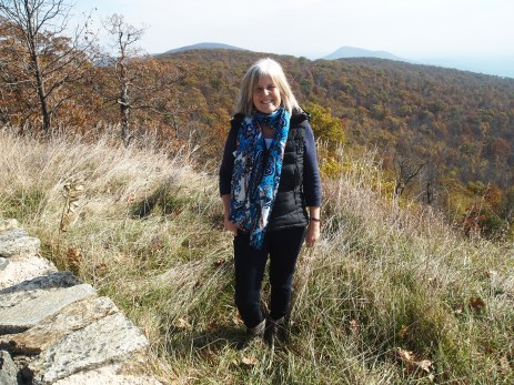 me at an overlook on Skyline Drive