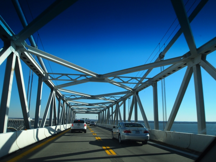 Driving across the Chesapeake Bay Bridge