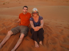 Alex and me at Camp Al Areesh in Oman