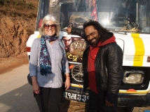 me and Gadi Sagar on location in Pokhara