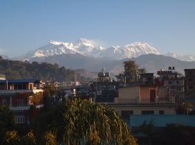 the Annapurna range from Pokhara