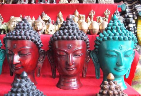 Buddhas in a Kathmandu shop
