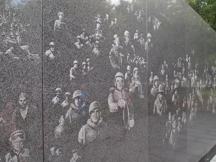 the main memorial of the Korean Veterans War Memorial