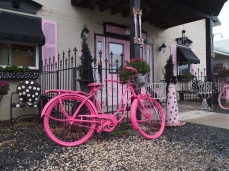 pink bicycle at On a Whim