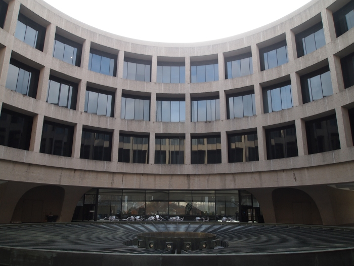 the center of the cylindrical-shaped Hirshhorn