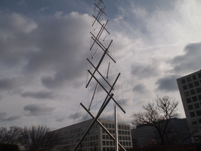 sculpture outside the Hirshhorn