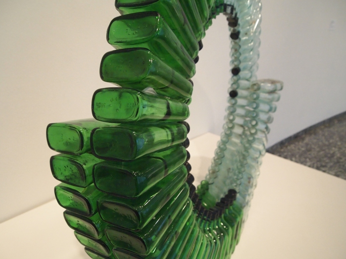a spiral of bottles