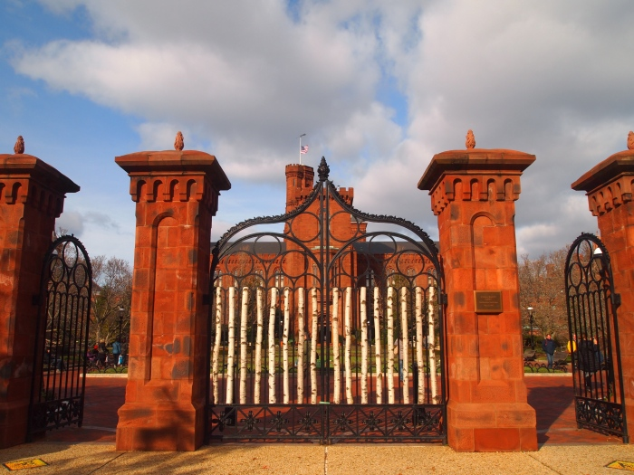 entrance to the enid a. haupt garden