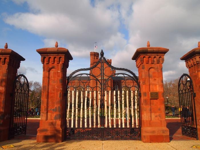 entrance to the enid a. haupt garden