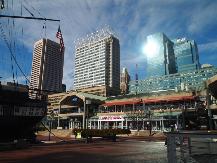 Shopping arcades in the Inner Harbor