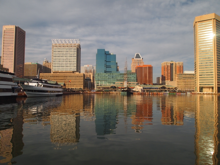 reflections of the Inner Harbor