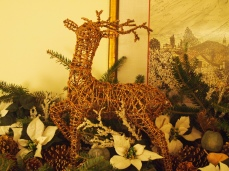 reindeer on the mantel