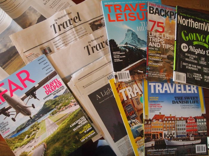 Multitudes of travel publications.  Surely there's one that will take my work. :-)