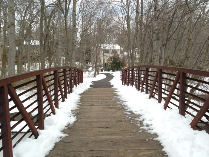 footbridge over part of Lake Audubon