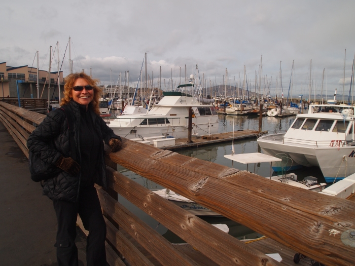 Jayne at one of San Francisco's piers
