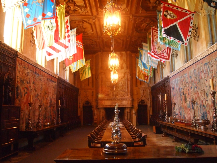 Dining room at Hearst Castle