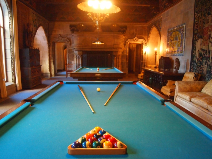 Billiard room at Hearst Castle